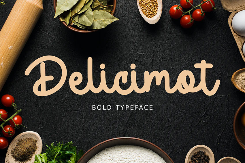 Delicimot Delicious Script Font