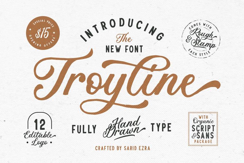 Troyline Cricut Script Font