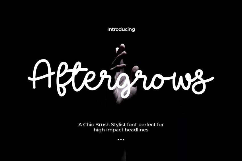 Aftergrows Cricut Script Font
