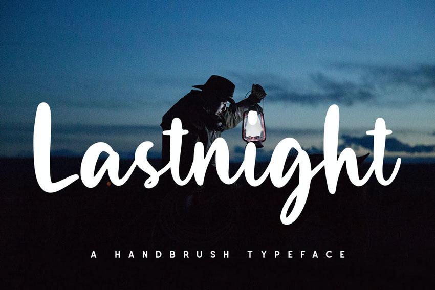 Lastnight Stylish Cricut Cursive Font