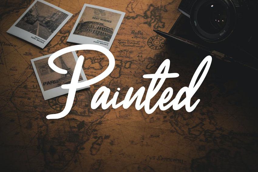 Painted Cricut Cursive Font