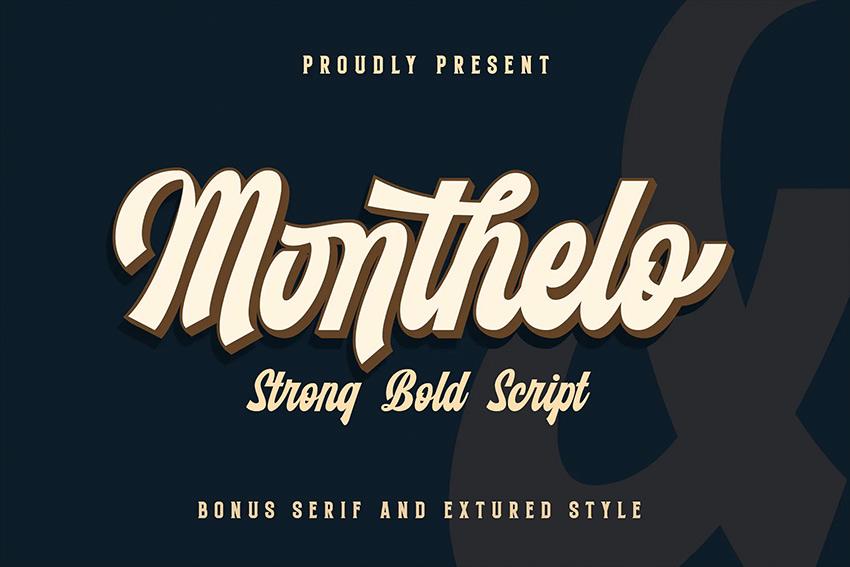 Monthelo - Vintage Script Font
