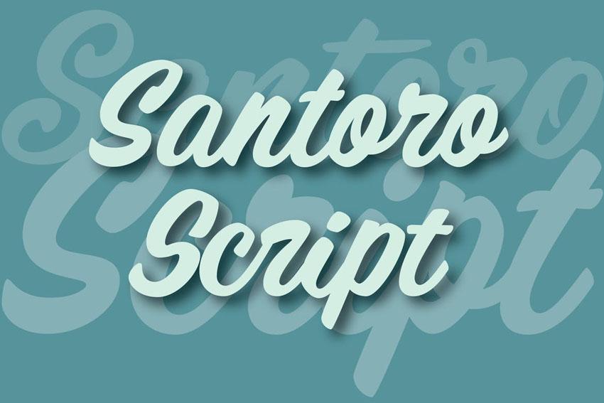 Santoro Cricut Script Font