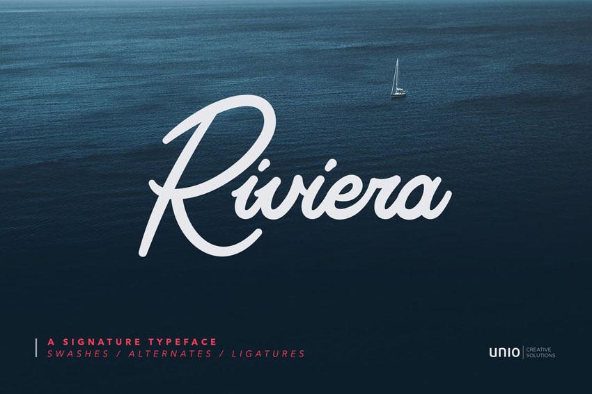 Riviera Cricut Cursive Font
