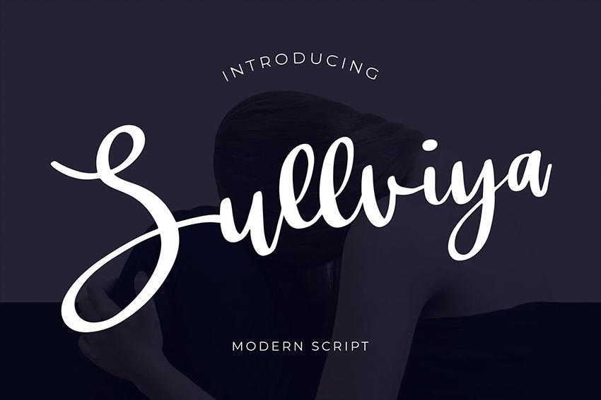 Sullviya Modern Script Font