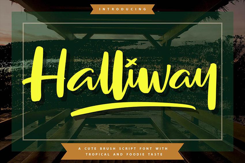 Halliway | Brush Script Font