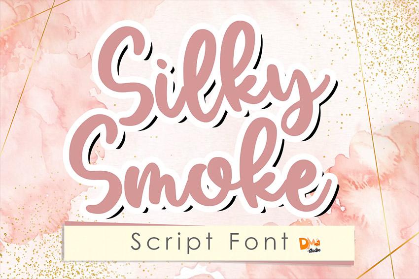 Silky Smoke - Script Font