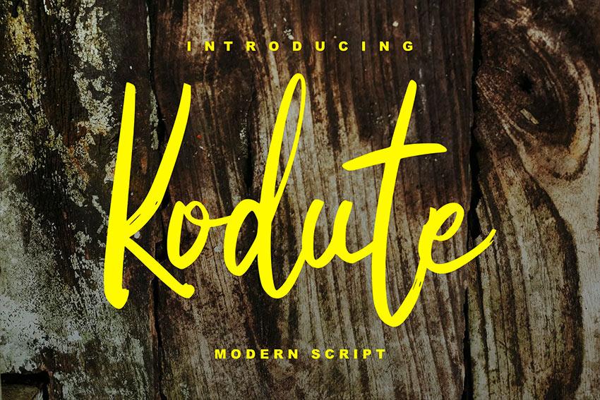 Kodute | Modern Script Font