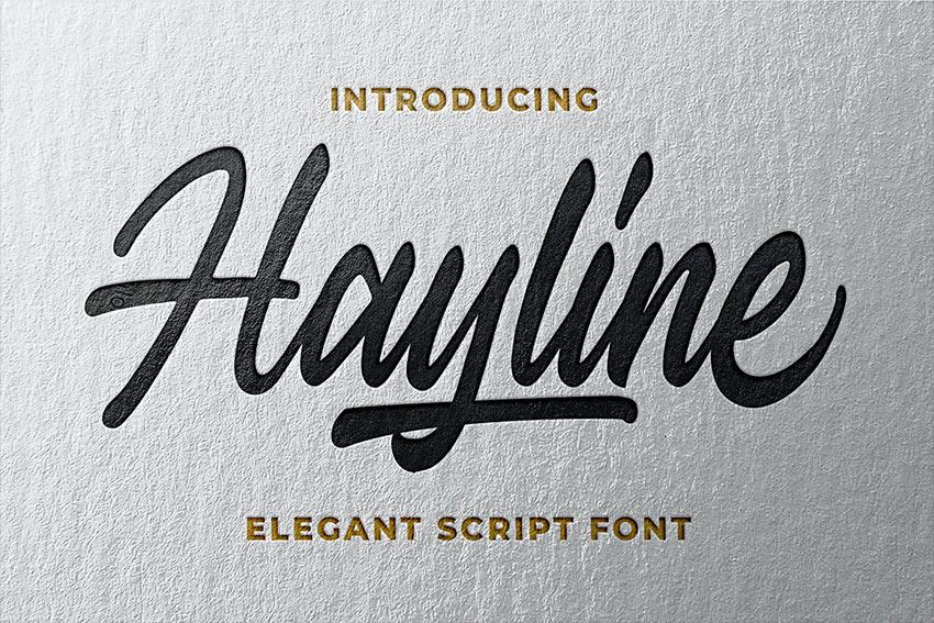 Hayline - Elegant Script Font