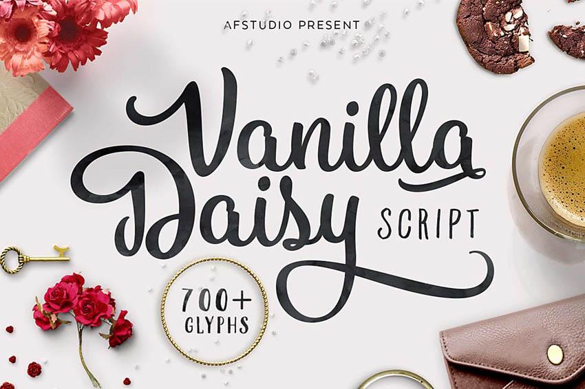 Vanilla Daisy Script Cursive Font
