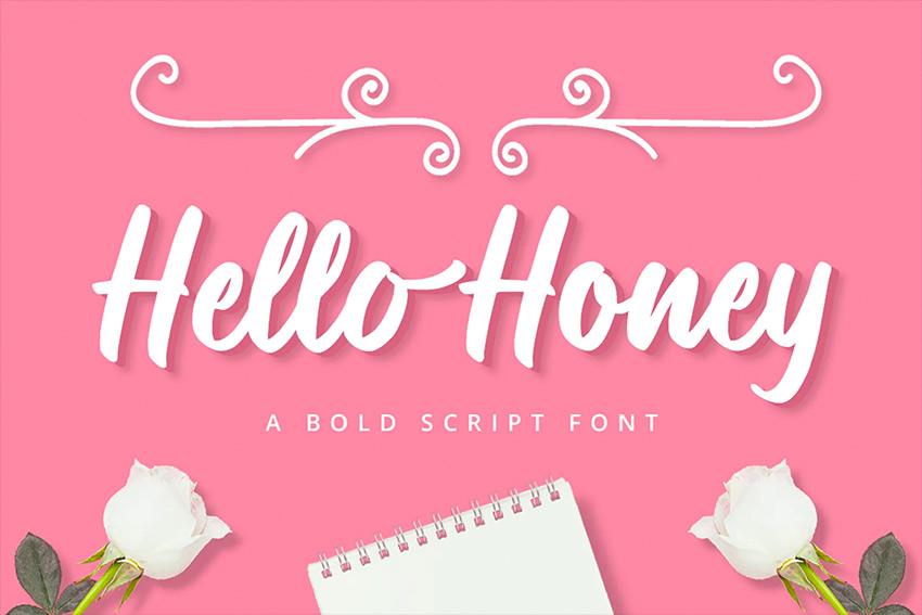 Hello Honey Cricut Script Font