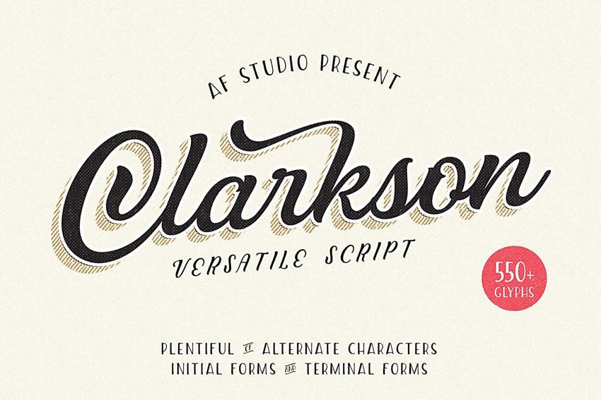 Clarkson Cricut Script Font