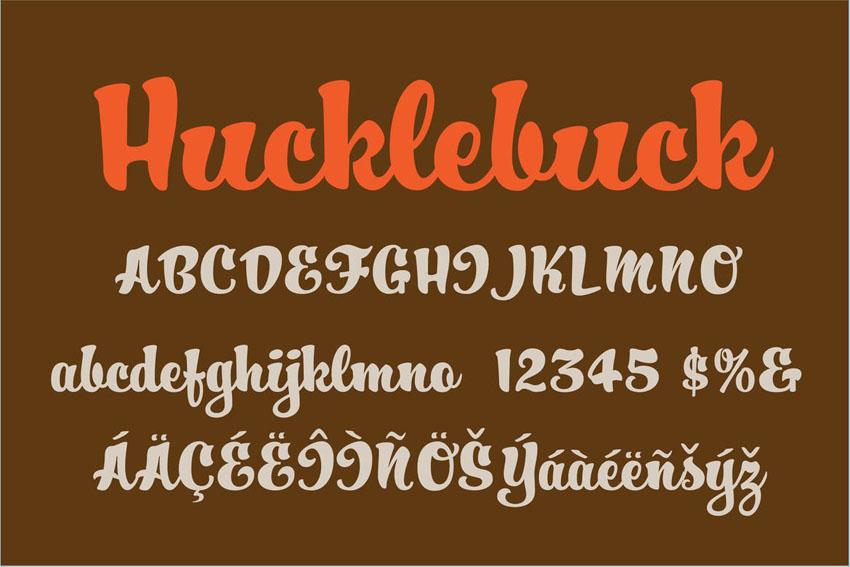 Hucklebuck Cute Cricut Script Font