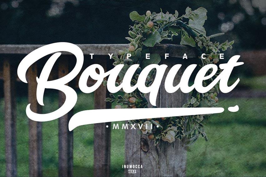 Bouquet Cricut Cursive Font