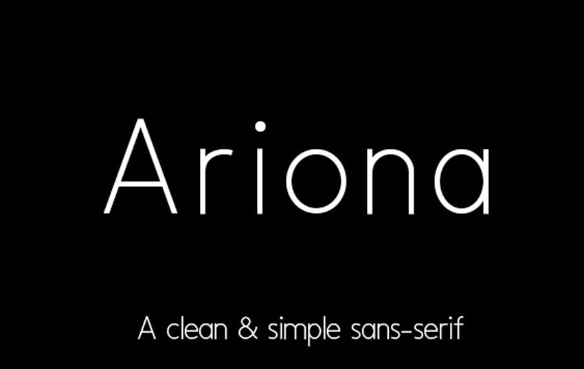 Ariona Simple and Clean Web Fonts