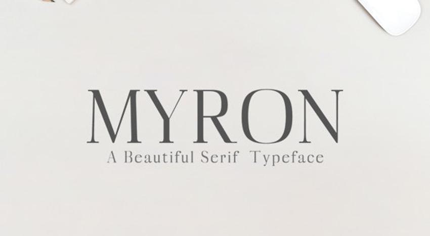 Myron Serif Typeface