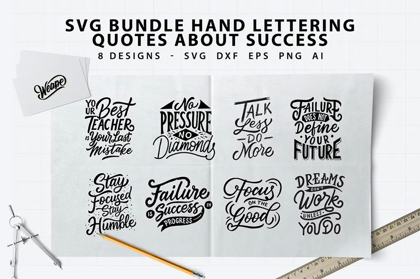Envato Elements Cricut SVG Quotes