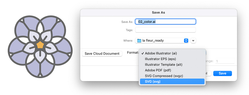 Illustrator Save Select SVG