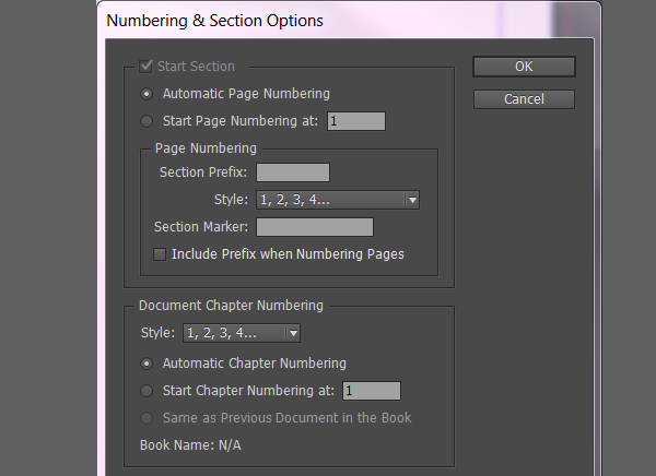 Number  Section Options