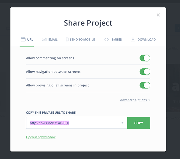 InVision Share Project