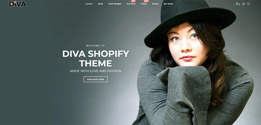 Diva - Minimal and Modern Shopify Theme