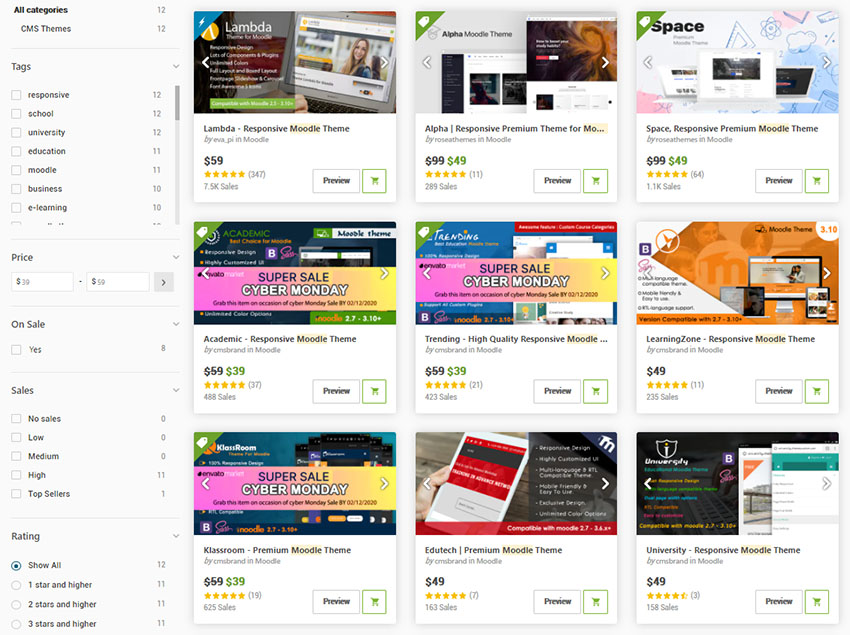 Best Moodle Themes for Courses on ThemeForest