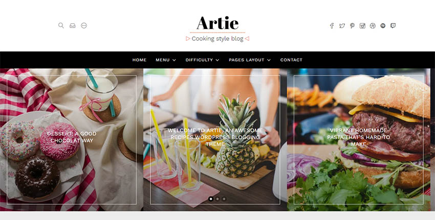 Artie - Food Blog WordPress Theme