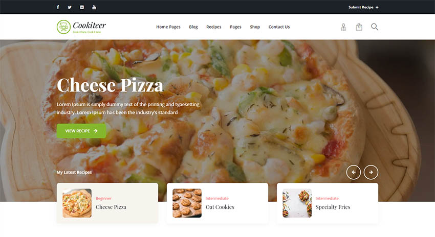Cookiteer - Food  Recipe WordPress Theme