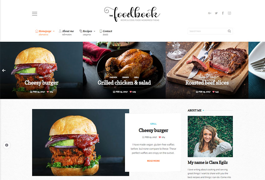Foodbook - Recipe Community Blog Food  Restaurant Theme