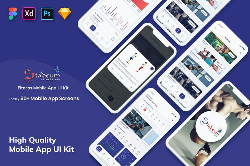 Stadeum-Fitness Mobile App UI Kit