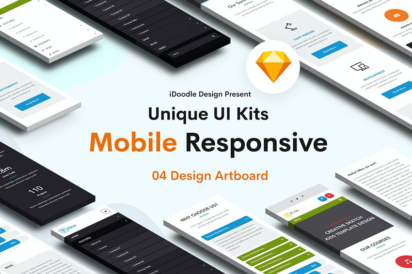 Mobile Responsive UI Kits Design