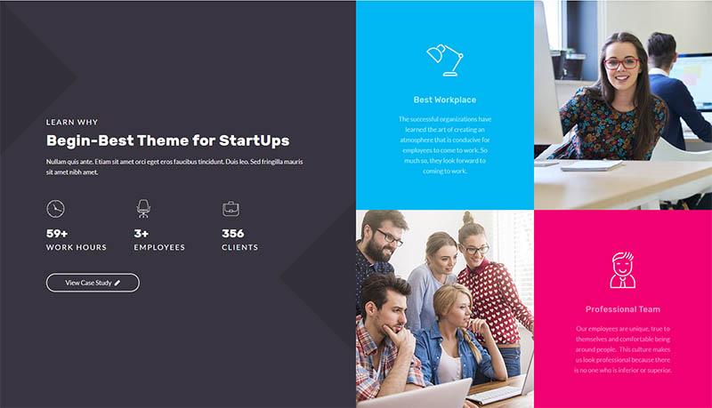Begin - Startup WordPress SaaS Theme