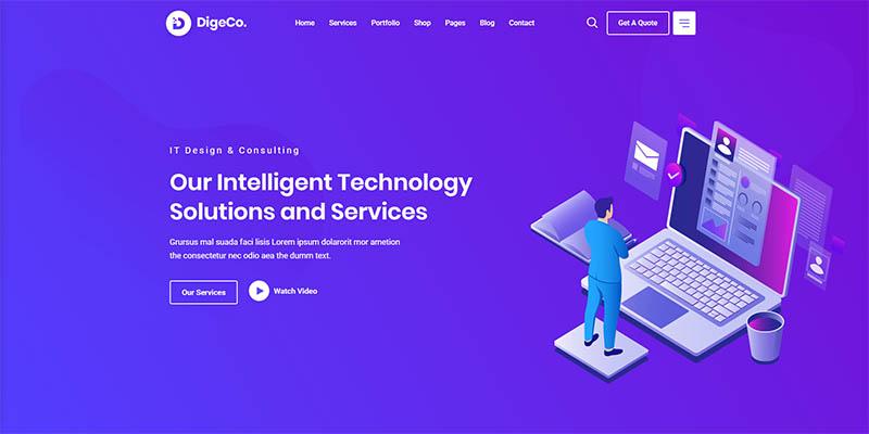 Digeco  Startup Agency WordPress Theme