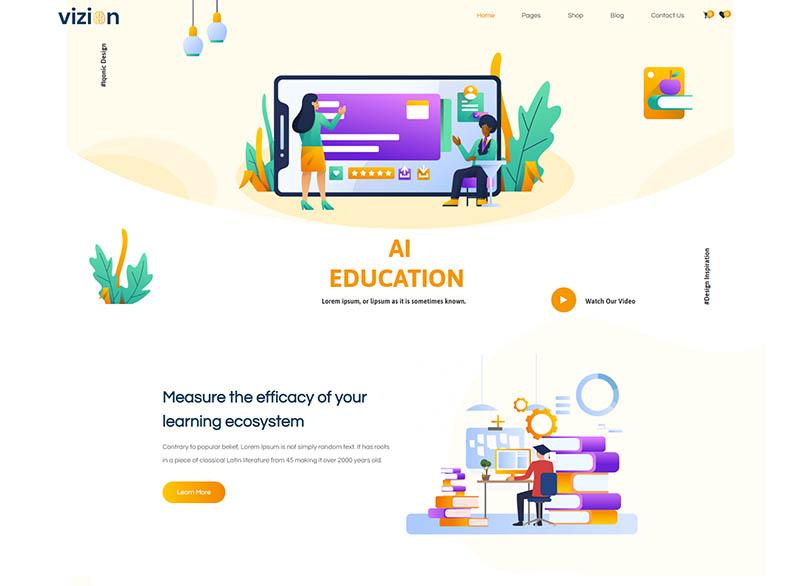 Vizion - AITech  Software Startups WordPress Theme