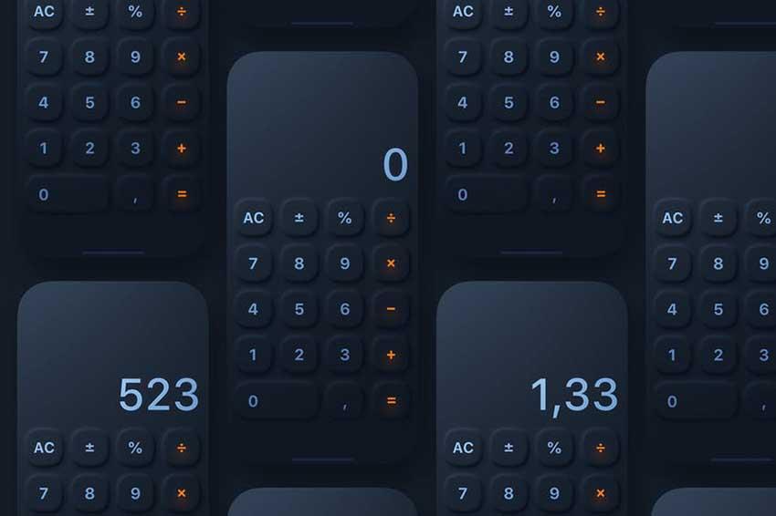 Neumorphic iOS Calculator
