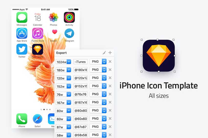 IOS Icon Template - All sizes