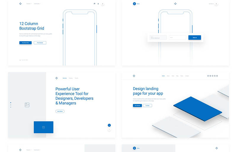 WeDot - Wireframe UI Kit