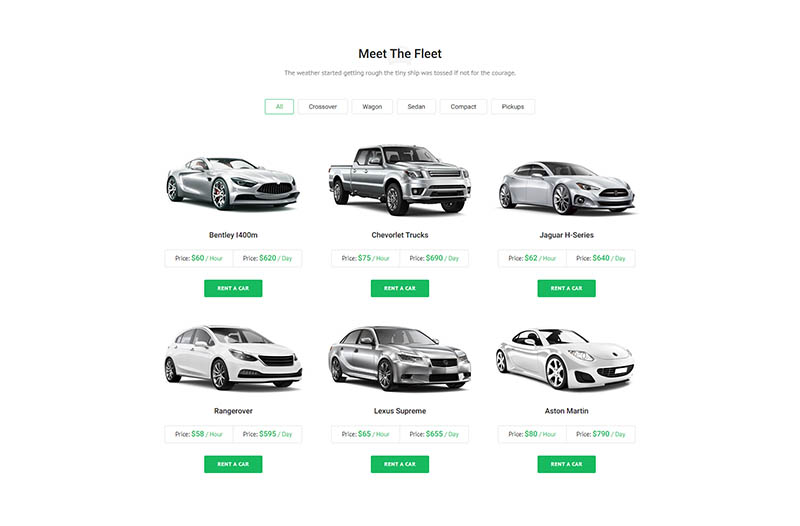 Valencia - Car Hire WordPress Theme