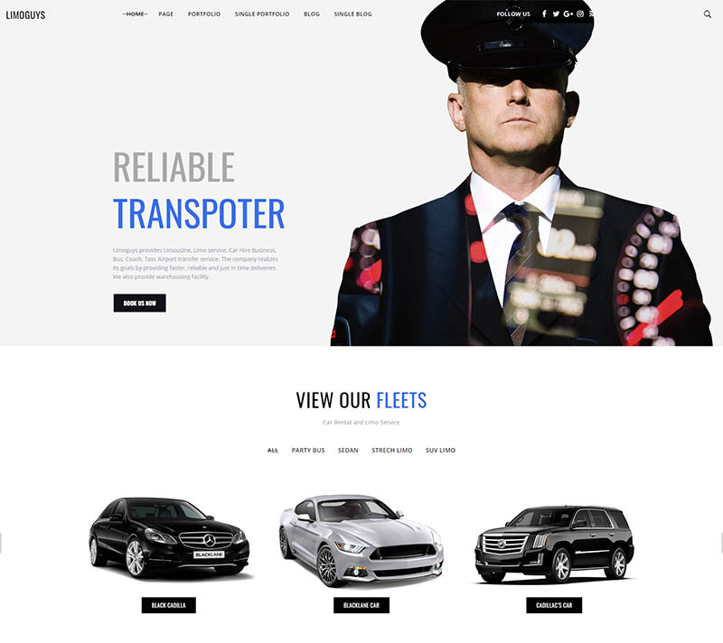 Limo guys  Creative WordPress theme for Car Rental and Limo Service