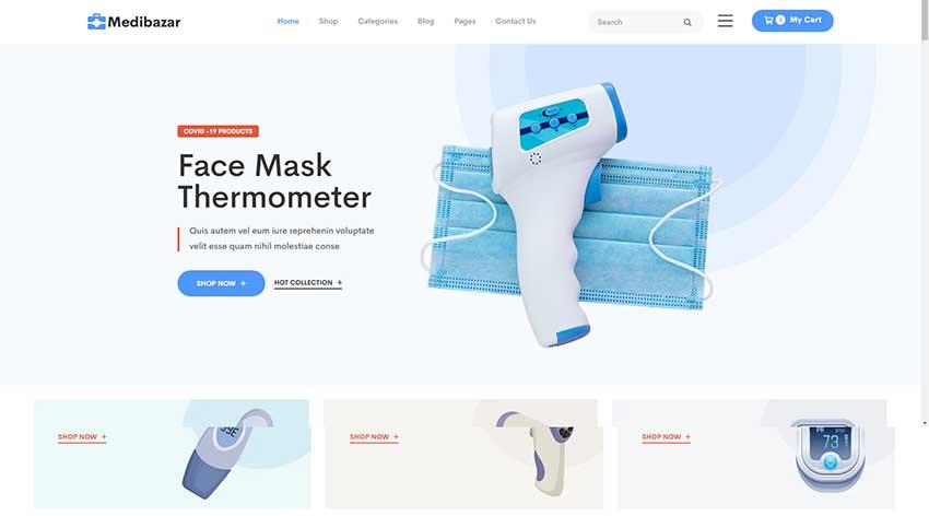 Medibazar - Medical WooCommerce Theme