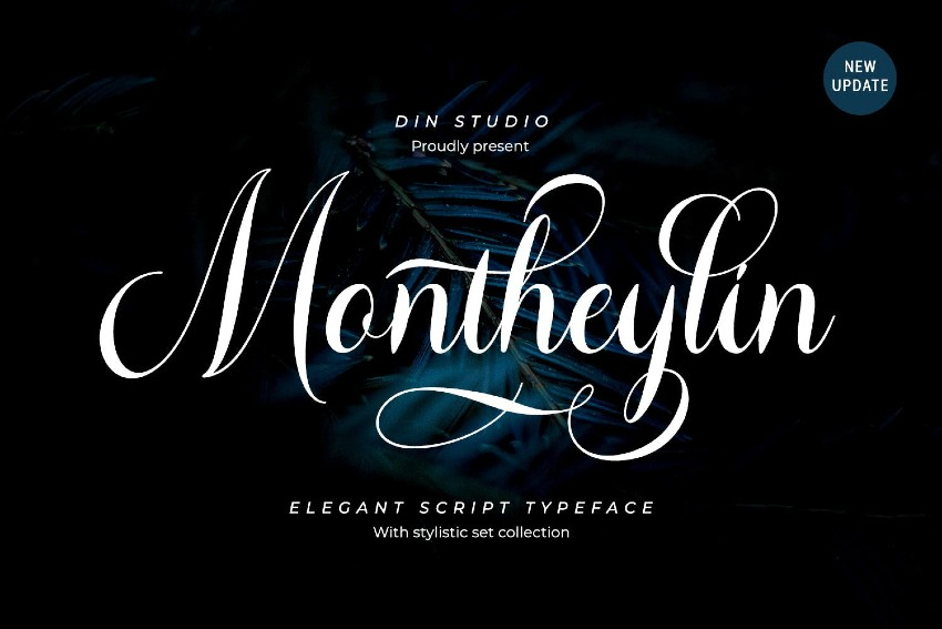 Montheylin - Calligraphy Font