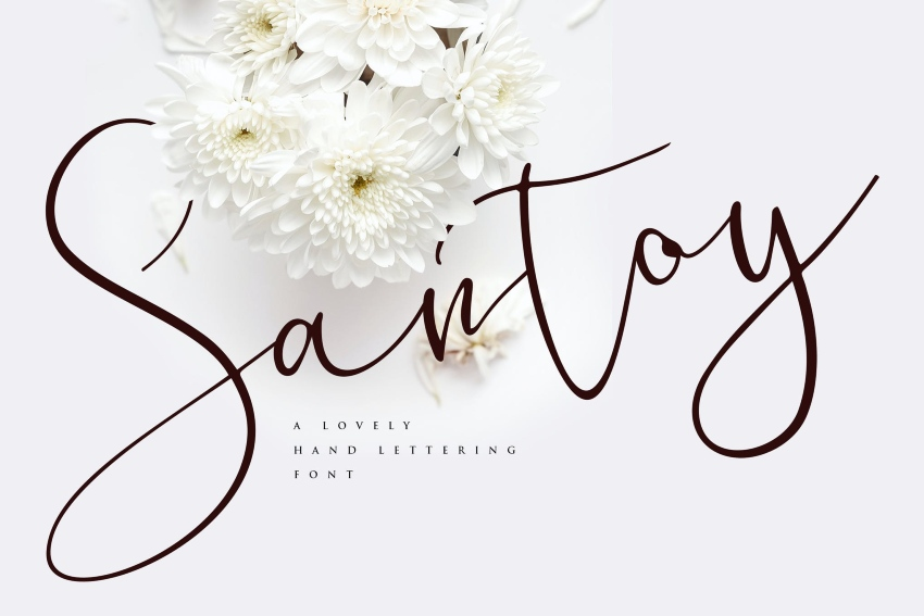 3. Santoy - Hand Lettering Font (TTF, OTF)