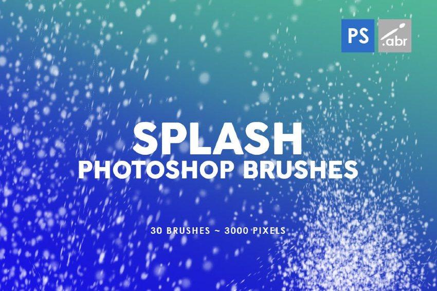 Water Splash Brush Photoshop Set