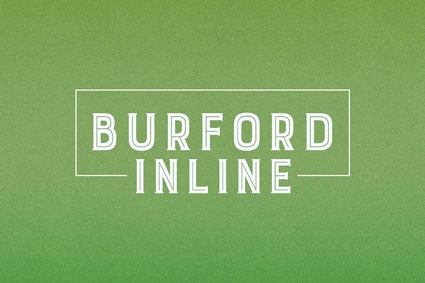 Burford Inline Layered Font (OTF, TTF, WOFF)