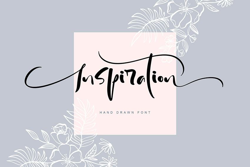 Inspiration Hand Drawn Font (OTF, TTF, WOFF)