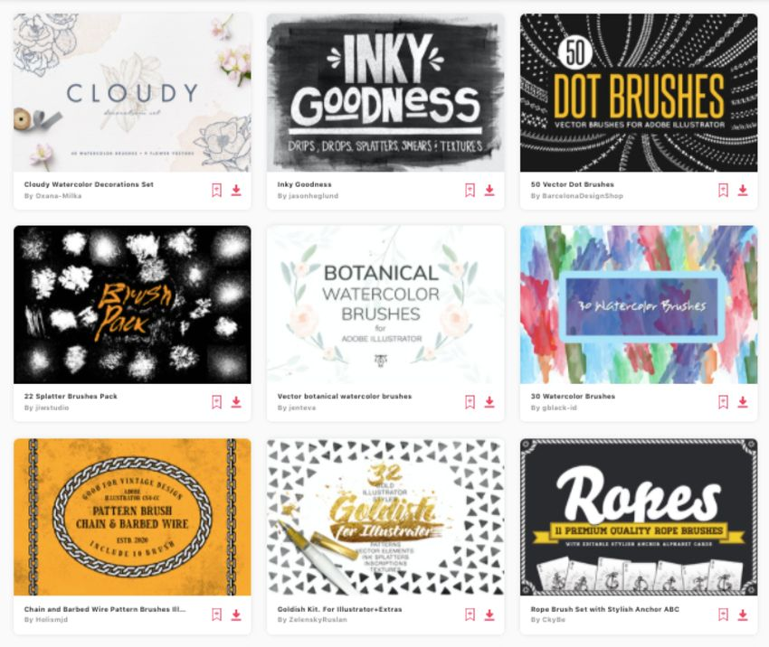Get unlimited Illustrator texture brushes from Envato Elements