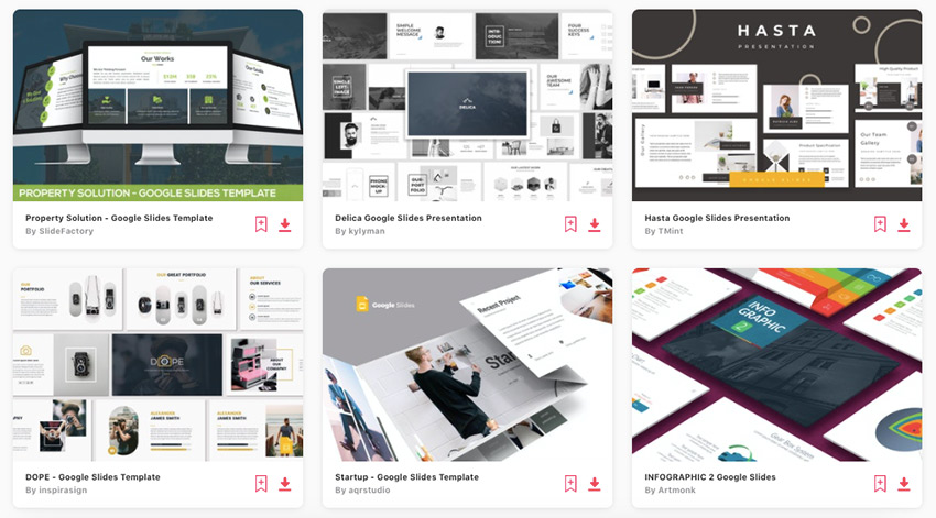 Envato Elements gives you unlimited downloads of Google Slides presentation themes