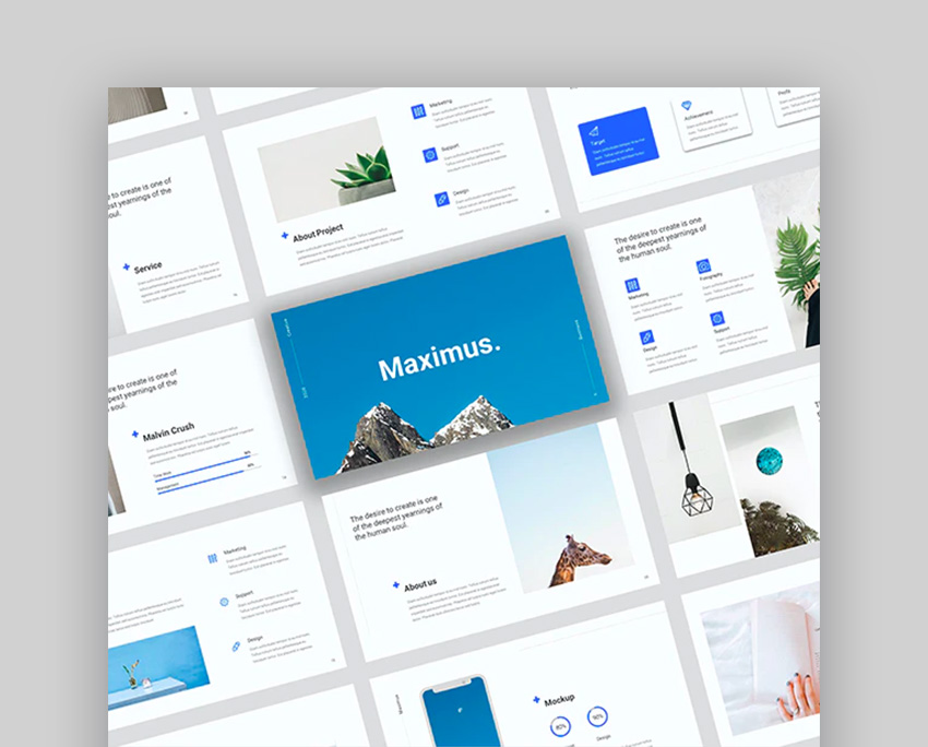 Maximus - Creative Bussiness Google Slide Template