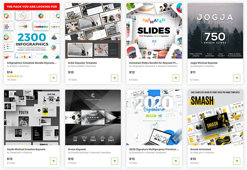 The best Keynote themes are ready for you to download, thanks to Envato Market.