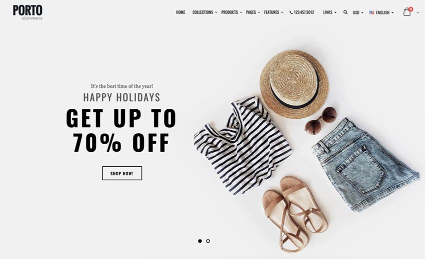 Porto is one of the best retail website templates